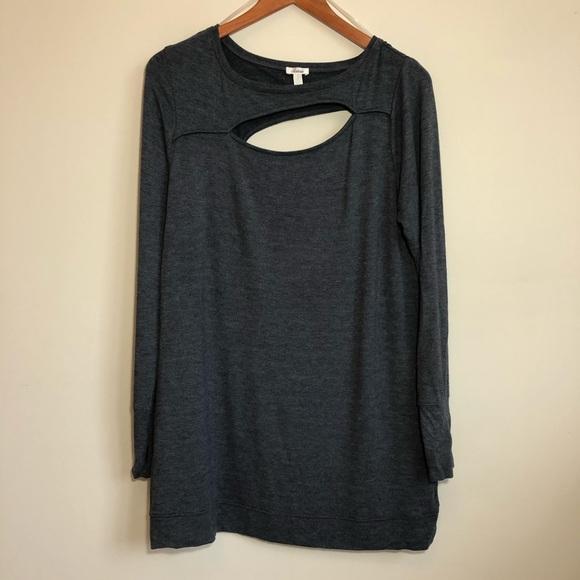 Soma | Asymmetrical Cutout Long Sleeve Shirt Sz M
